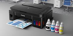 G1400 Canon tintes printeris
